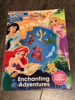 500 Big Stickers Disney Princess Enchanting Adventures