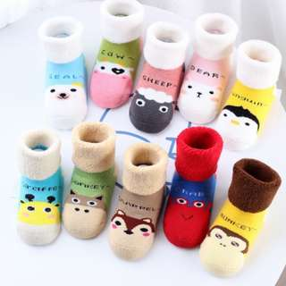 5 Pairs of Cute Animal Design Long Tube Baby Socks (FREE Shipping)
