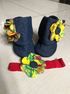Zuri Baby Couture booties and headband set