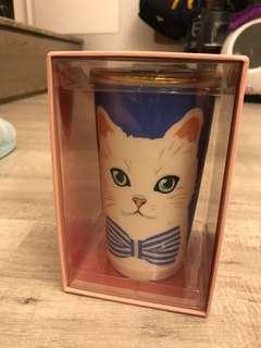 2016 絕版 Starbucks 星巴克 Paul and Joe 貓貓雙層瓷杯