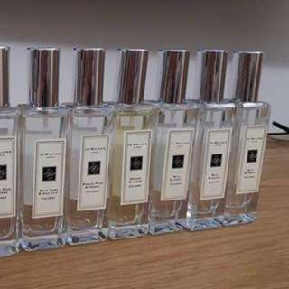 暑假優惠! jo malone jomalone 香水!!!!!!!!!!!!!! 只有: english pear , wild bluebell, red rose, honey 30ML!!