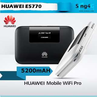 🚚 HUAWEI E5770 (4G 150mbps 10WIFI Share Max 10hr 1 LAN)