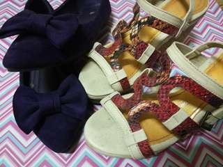 Bundle doll shoes and wedge for Php350.00