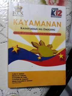 Grade 8 AP Kto12 textbook - KAYAMANAN Kasaysayan ng Daigdig gr.8 Kto12 seamless edition