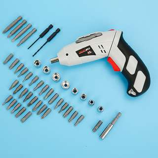 45pcs 4.8V Electric Cordless Lightweight Screwdriver Drill Carry Case