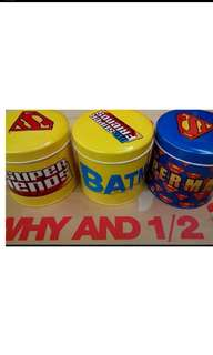 🚚 Why and 1/2鐵罐 漫威 超人 蝙蝠俠 全新每個50元
