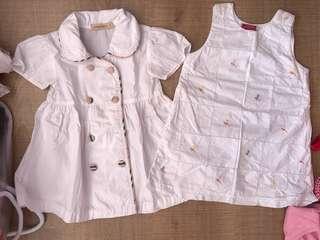 1year white dress (2pcs)