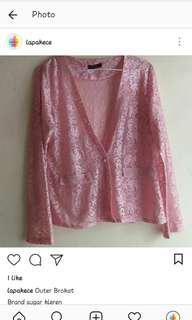 Pink outer brokat/bolero #merdeka73