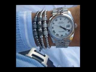 珠寶首飾系列 (鈦鋼手鍊手鈪16-22cm可調) (天良) (ti-stainless steel bracelet)