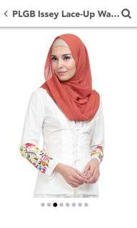 POPLOOK PLBG Issey Lace-up Waist Blouse