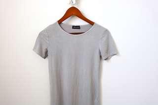 Grey Suede Dress
