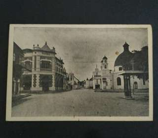 Post card original antik photo Djalan Purwodinatan, kota lama Semarang.