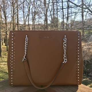 MICHAEL KORS ELLIS LARGE TOTE IN LUGGAGE