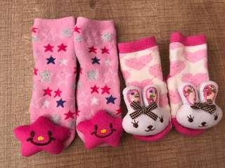 Star & rabbit bunny socks 6-12m