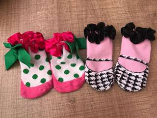 6-12m baby princess socks 2piecse