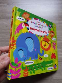 [Award Winner] Usborne Baby's Very First Play book - Animal Words
