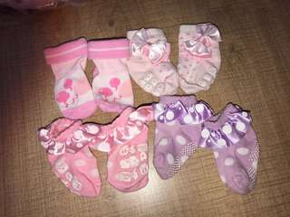Baby princess socks 6-12m (4 pair)