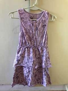 Kiesha violet dress
