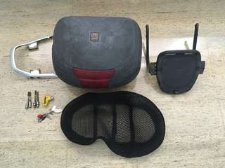 Givi box with rack and Kiss Helmet(New)