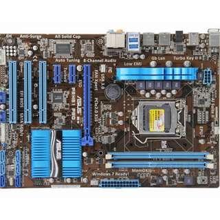 🚚 華碩 P8H61 Pro 全固態電容1155腳位主機板~支援USB3.0、DDR3、可正常開機使用但稍有瑕疵便宜賣、見内文