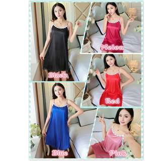 Muimui Woman Ice Satin Lingerie Nightdress Comfortable With 5 Colours MS1059