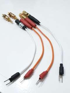 Vintage Amplifier Speaker Post Conversion Cable