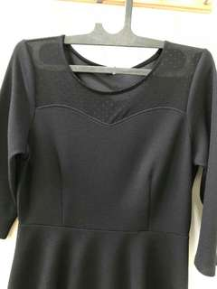 Dress hitam gaudi