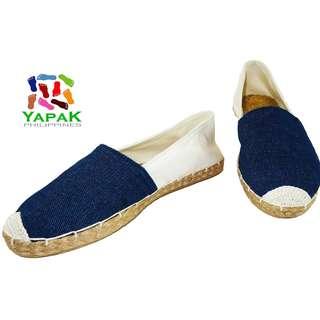 YapaK 2 Tone Espadrilles for Men & Women  - BLUE/WHITE