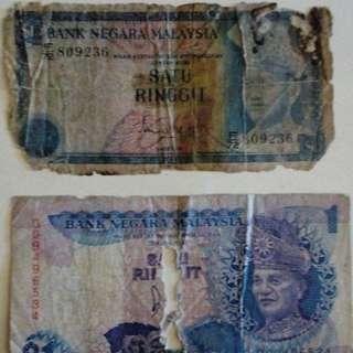 Wang Kertas Lama RM1