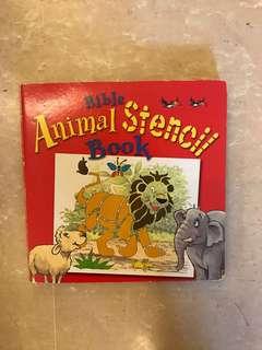 Children Animal Stencil Book