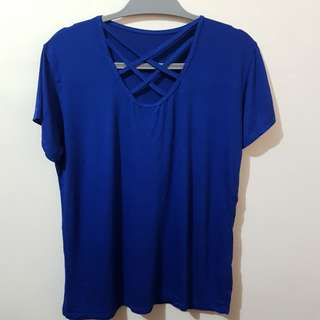 Womens Front Criss cross Top (Plus Size)