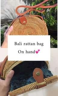 Bali rattan bag onhand