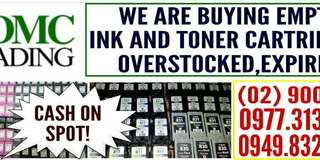 WE BUY EMPTY INK CARTRIDGES AND TONER