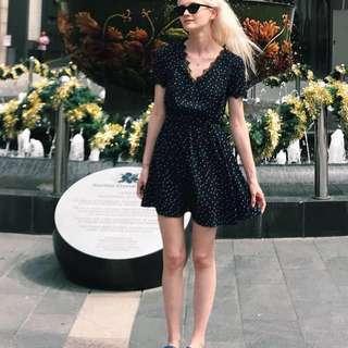 Blue boutique dress