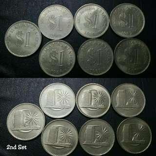 ☆☆ Set Lengkap $1 Parlimen (1971-1986)