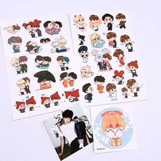 EXO Suho Xiumin Sejun Sehun Hunho fanart sticker