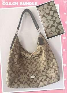 💕👜ORIGINAL Coach hobo bag with wallet