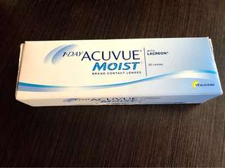 ORIGINAL Acuvue Moist 30 day softlens. (Clear)