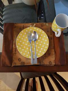 Placemate chinese motif