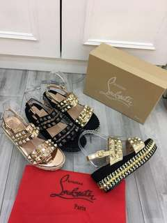 Louboutin Wedges Studed