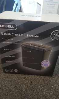 Lowell cross cut paper shredder
