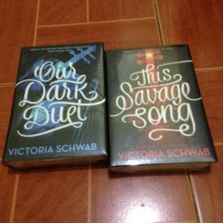 Savage Song and Dark Duet (2 copies, hardbound)