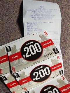 MOTO Cash Voucher