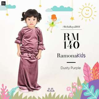 Bella Ammara Ramona Kids Kurung Dusty Purple
