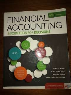 Financial Accounting (Information for Decisions)