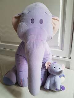Soft purple giant elephant toy