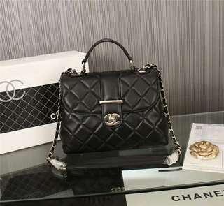 Chanel香奈兒單肩斜挎包斜揹包手提包