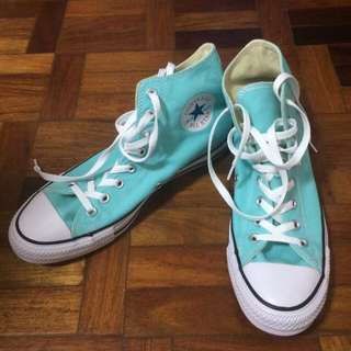 Bright blue Converse Chuck Taylor High-Cut Sneakers (Brand New)