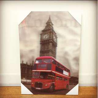 London Bus 3D Wall Art