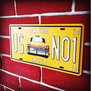NYC Car Plate